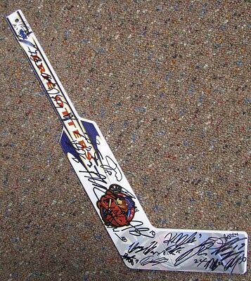 Erie Otters Mini Goalie Stick Signed By 2015-16 Team Dylan Strome Alex Debrincat