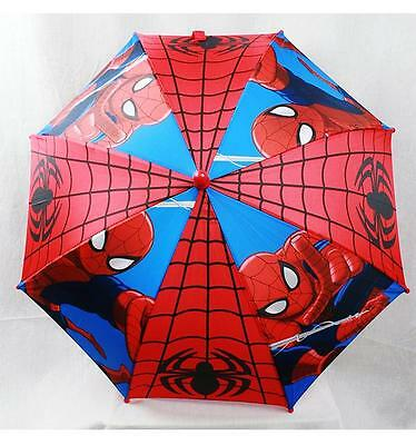 "NWT Spiderman Kids Umbrella (20"" folded 32"" Open) Sunny or Rainy Day by Marvel"