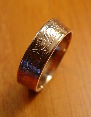 Custom Handmade Rings Made from  Old CANADA - Large One Penny Coins: