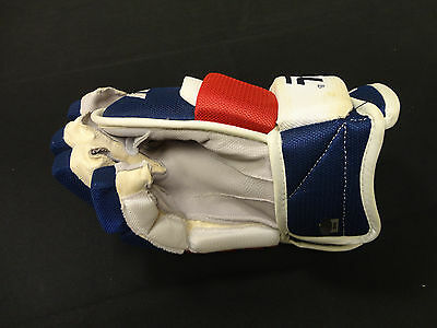 Michael Del Zotto Game Used 2011/12 Ny Rangers Winnwell Right Hand Glove Steiner
