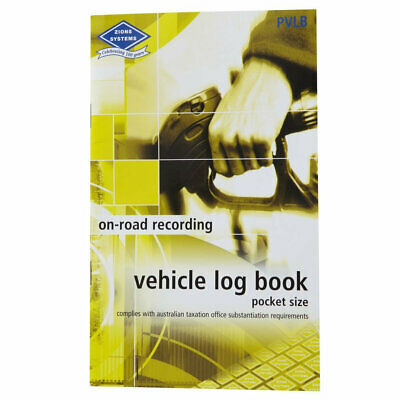 Zions PVLB Vehicle Log Book Pocket Size ATO Compliant For Car or Truck - PVLB
