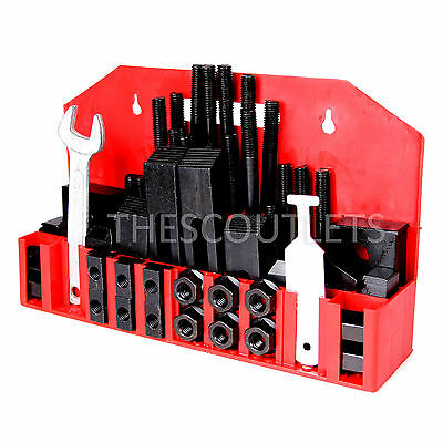"""Upgraded 58 pc 5/8"""" T-Slot Clamping set 1/2""""-13 Stud Hold Down Bridgeport Mill"""