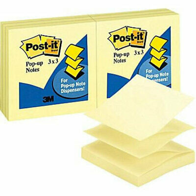 Post It Notes R330-YW Pop Up Refill 76x76mm Yellow 12 Pack