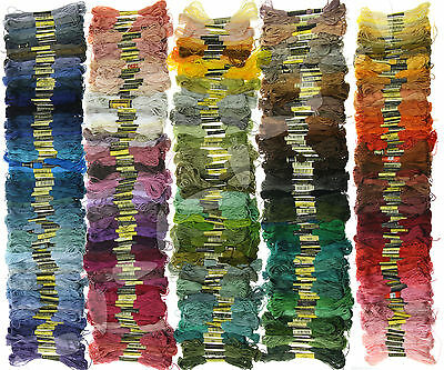 447 Colors Embroidery Thread Cross Stitch Floss Sewing Skeins Cotton