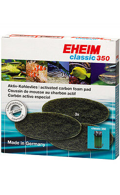 Eheim Carbon Filter Pad For Classic 350 (2215) - 3 Pack 2628150