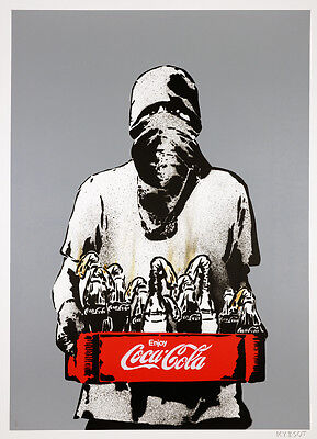 ICY AND SOT - Molotov (grey burnt) - Screen print | Urban, street art, graffiti