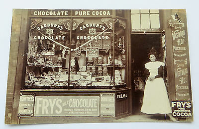 Wonderful Early Real Photo Postcard  Shop Front & Staff