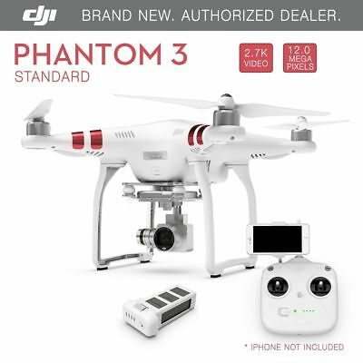 DJI Phantom 3 Standard FPV Drone with 2.7K 12 Megapixel HD Camera - Brand New