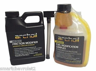 Archoil AR9100 16oz Friction Modifier + AR6200 8oz Fuel Modification Complex