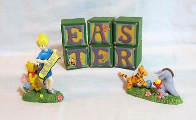 Midwest CLASSIC WINNIE the POOH EASTER BLOCKS Set of 8 NEW NIB XX-RARE!
