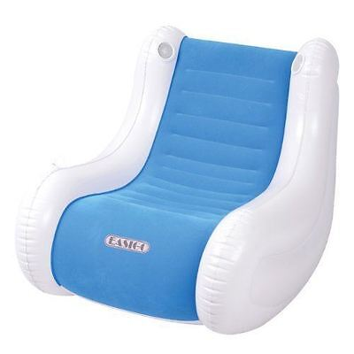 Inflatable Single Rocking Gaming Relaxing Chair Sofa With Built In Speakers