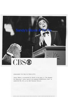 JOHNNY MATHIS Terrific Original TV Photo THE MUPPETS GO HOLLYWOOD