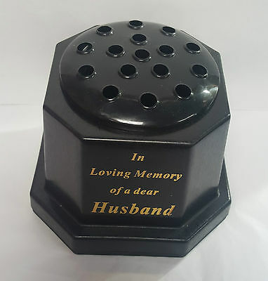 In Loving Memory Grave Or Memorial Flower Vase For Husband