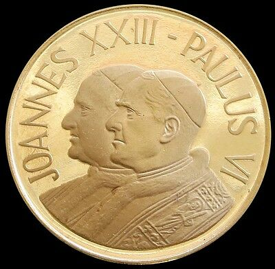 1962 GOLD POPE JOHN XXIII & PAUL VI VATICAN CITY 2nd VATICAN COUNCIL 3.5g MEDAL