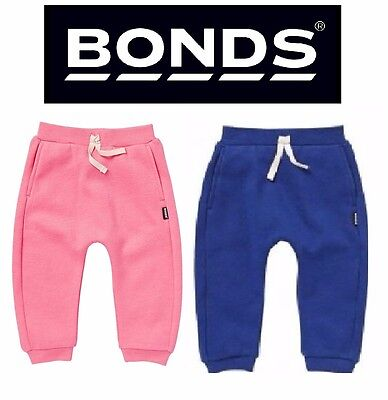 Baby Bonds Boys Girls Signature Trackpants Cotton Trackies Blue Pink Pants