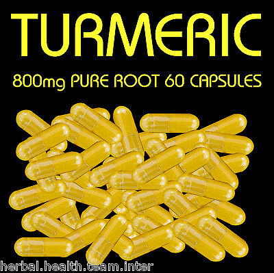 Pure Turmeric root 60 800mg capsules in each Bottle...