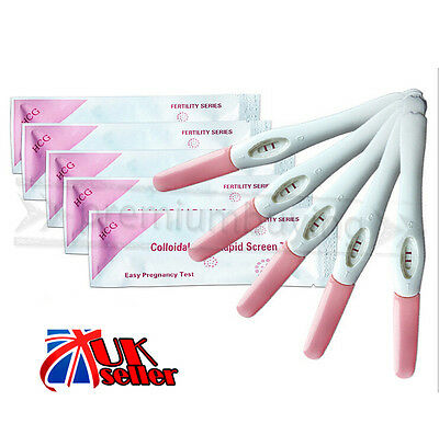 UK 5PCS Home Urine Pregnancy Midstream Test Early Detection Kit HCG Strips Hot