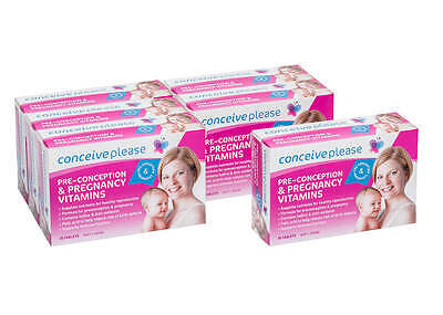 Conceiveplease Women's Preconception & Pregnancy Vitamin 6 Months Value Pack