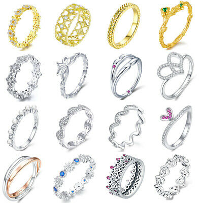 2018 Authentic My Princess Finger Rings Fit Women Sterling S925 Silver Jewelry