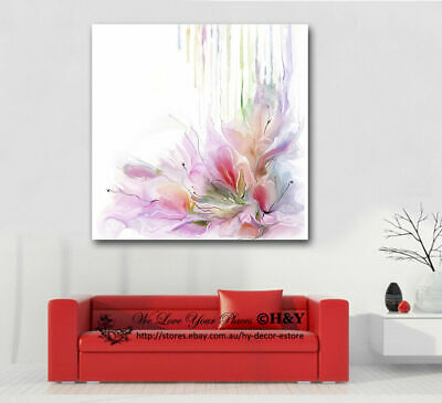 """Spring Rain"" Flowers Stretched Canvas Print Framed Wall Art Home Decor Painting"
