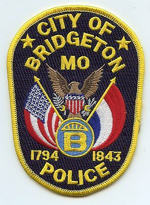 Bridgeton Missouri Mo Police Patch