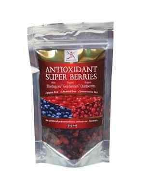 DR SUPERFOODS Antioxidant Super Berries 125g - Blueberries, Goji Berries & Cranb
