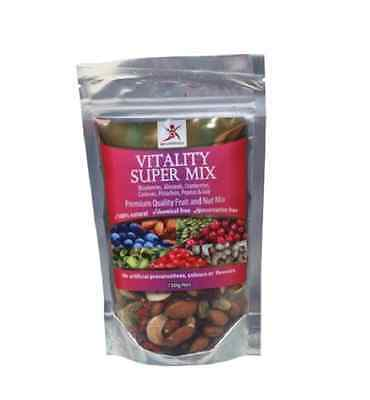 DR SUPERFOODS Vitality Super Mix 150g - Includes Dried Blueberry, Cranberry, Goj