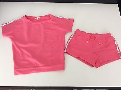 Chloe Girls Outfit, Set, Size Age 6, T Shirt And Shorts, Pink, IMMACULATE