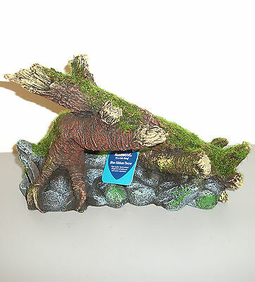 Aquarium Decoration. Synthetic Moss Covered Trees. FREEPOST.