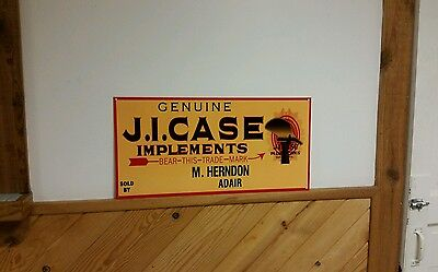 Big JI Case Implements Plow Works Sign Farm Tractor Gas Oil Seed Feed Barn