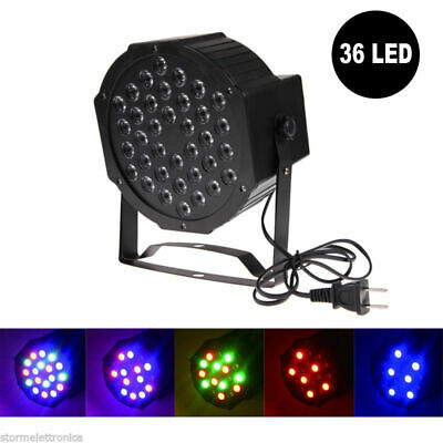 Proiettore 36 Led Rgb Dmx 512 Slim Par Light Faro Faretto 60W Feste Eventi Disco