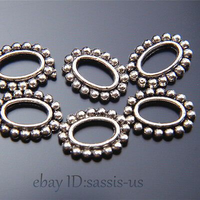 30pcs 13mm Charms Eyes Style Ring Connector Bails Tibet Silver DIY Jewelry A7519
