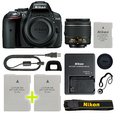 Nikon D5300 Digital SLR Camera with 18-55mm NIKKOR VR Lens + Backup Power Kit