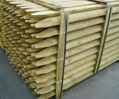 Fencing Stakes Machined Round & Pointed Fence Posts 50mm / 60mm 1.2m and 1.8m