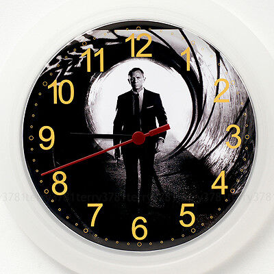 DANIEL CRAIG Wall Clock NEW - 24cm James Bond Spectre Christmas Gift