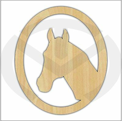 Unfinished Wood Horse Head Silhouette Laser Cutout, Wreath Accent, Door Hanger