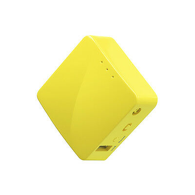 GL-MT300N mini router, Yellow, OpenWrt, Repeater, PoE, 300Mbps, OpenVPN