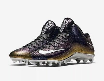 ae793c74481c NIKE ALPHA PRO 2 TD LOW MEN S FOOTBALL CLEATS 725223-007  95 gold silver  size