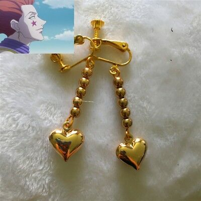Anime Earring.HUNTER×HUNTER Hisoka Cosplay.Golden Heart Cosplay Costume Prop