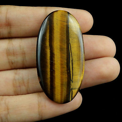 44.30CTS Beautiful Loose Brown Oval TIGER EYE Cabochon Amazing New Gemstone