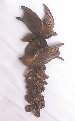 Superbly Carved Wooden Onlay Love Birds