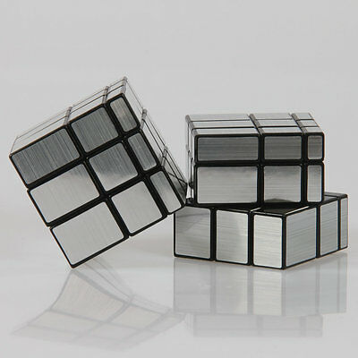 Silver 3x3 Magic Cube Mirror Puzzle Twist Intelligence Toys for Kids Adult
