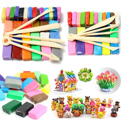5 Tool+32 Color Oven Bake Polymer Clay Block Modelling Moulding Sculpey Tool set