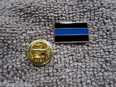 Thin Blue Line Cops Lapel/Tie Tack Hat Pin TBL Police Pin Support Pin