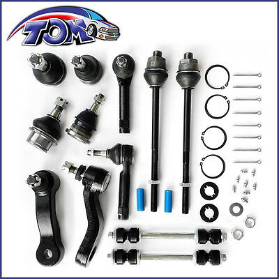 New 12 Pcs Front Suspension Kit Silverado Suburban Sierra 1500 99-06 End Arm 4Wd