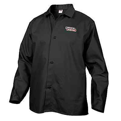 Lincoln Electric Black Large Flame Resistant Cloth Welding Jacket Shirt New