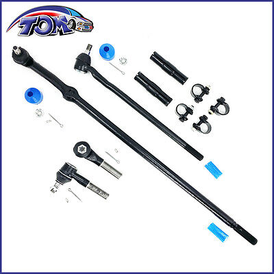 Brand New 6pc Kit Tie Rods Drag Links Sleeves For Ford Bronco F150 F250 F350