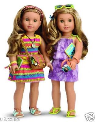 American Girl Lea Clark Doll Beach Exclusive Collection Dress & Accessories NEW
