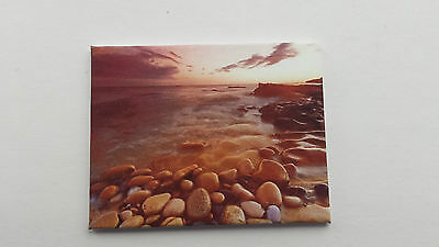 Handmade Miniature Dolls House Accessory Canvas Style Wall Art Picture Beach #5