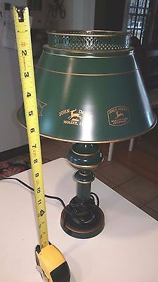 Vintage John Deere Table Lamp executive torchierre Desk sharp nice collectible